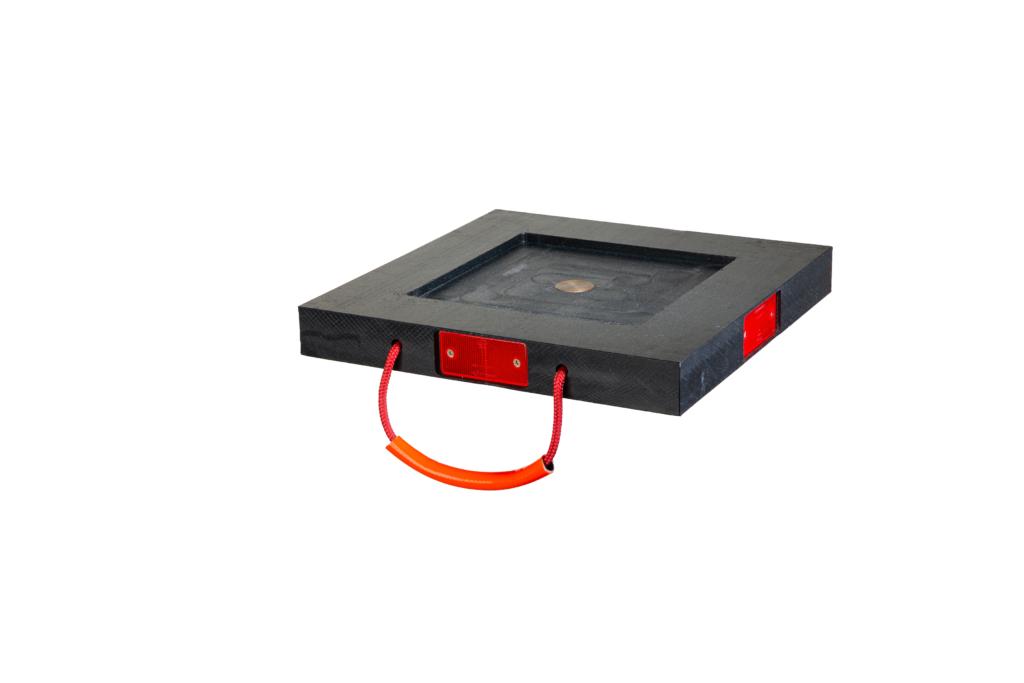 Abstütztechnik Abstützplatte Reflektoren Metallkern