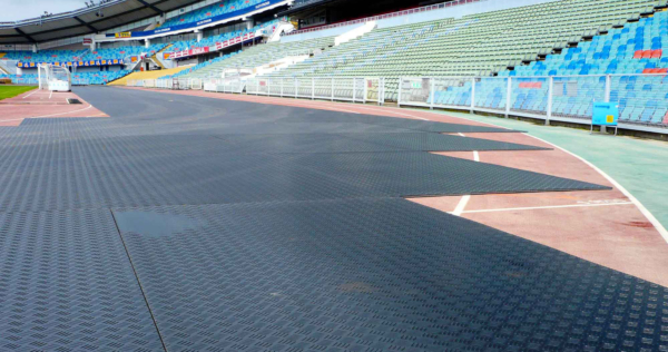 Bodenschutzplatte Flex Flächenschutz Stadion