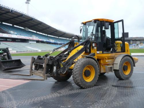 Bodenschutzplatte Flex Flächenschutz im Stadion