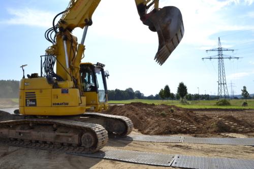 Bodenschutzplatte Proflex Flächenschutz Baustelle