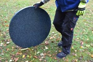 Unterlegplatte Rolling im Einsatz
