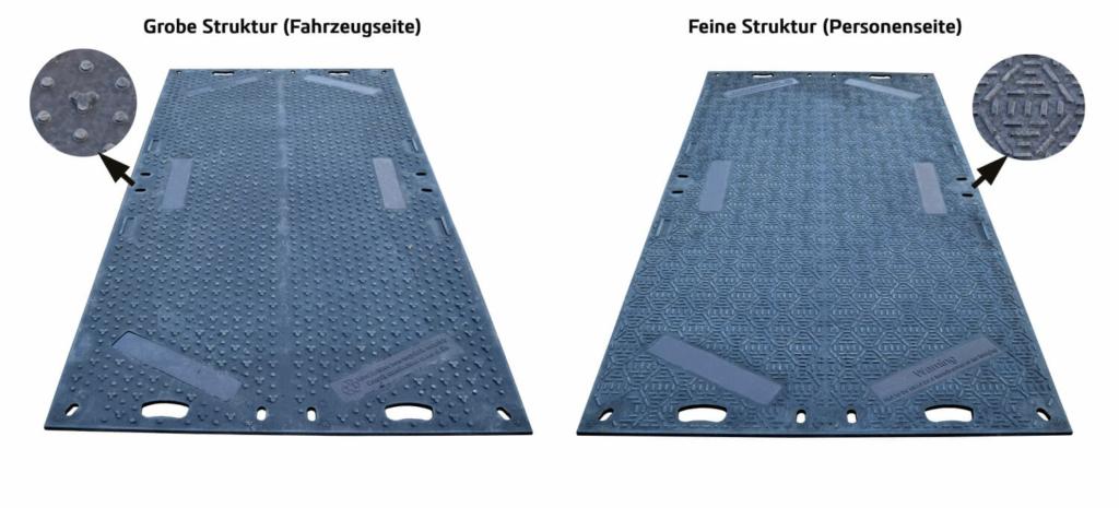 Fahrplatte Multi-Save mit beidseitiger Struktur
