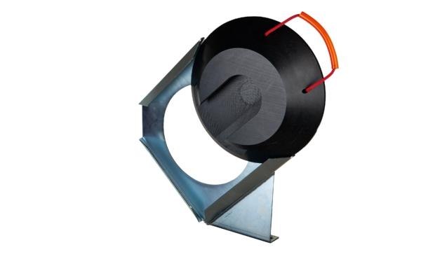 Steckplattenhalter rechts für runde Steckplatte