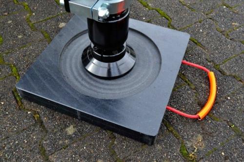 Abstützplatte Performance Stützfuß-Ausfräsung