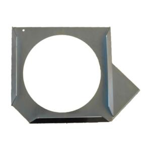 Abstütztechnik Steckplattenhalter links galvanisch verzinkt