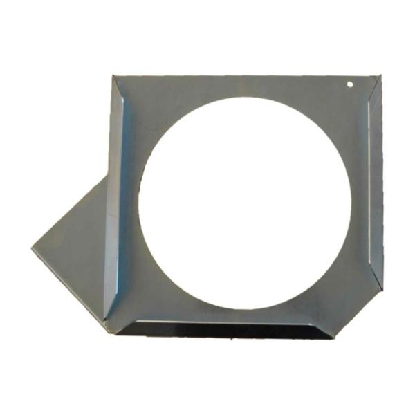 Abstütztechnik Steckplattenhalter rechts galvanisch verzinkt