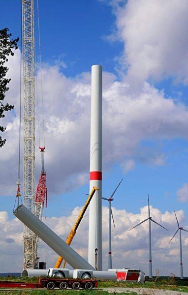Flächenschutz Schwerlastplatten Windkraftwerkbau