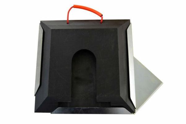 Steckplatte quadratisch mit Steckplattenhalter links