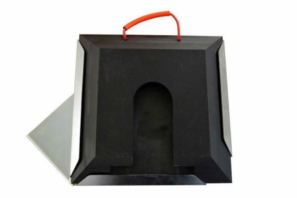 Steckplatte quadratisch mit Steckplattenhalter rechts