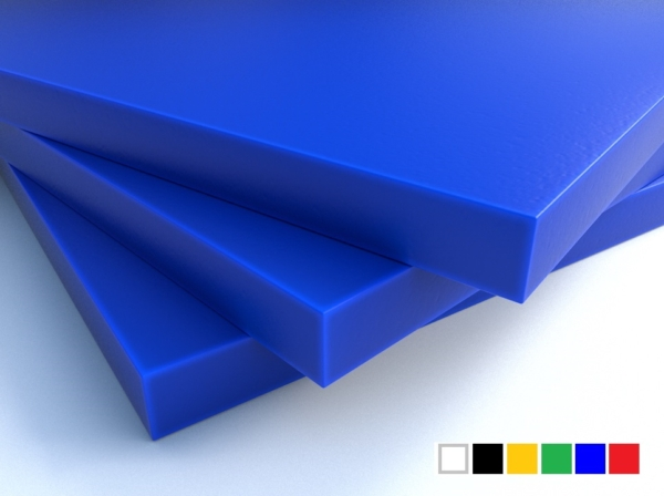 LuxTek Halbzeug blau mit Farbpalette
