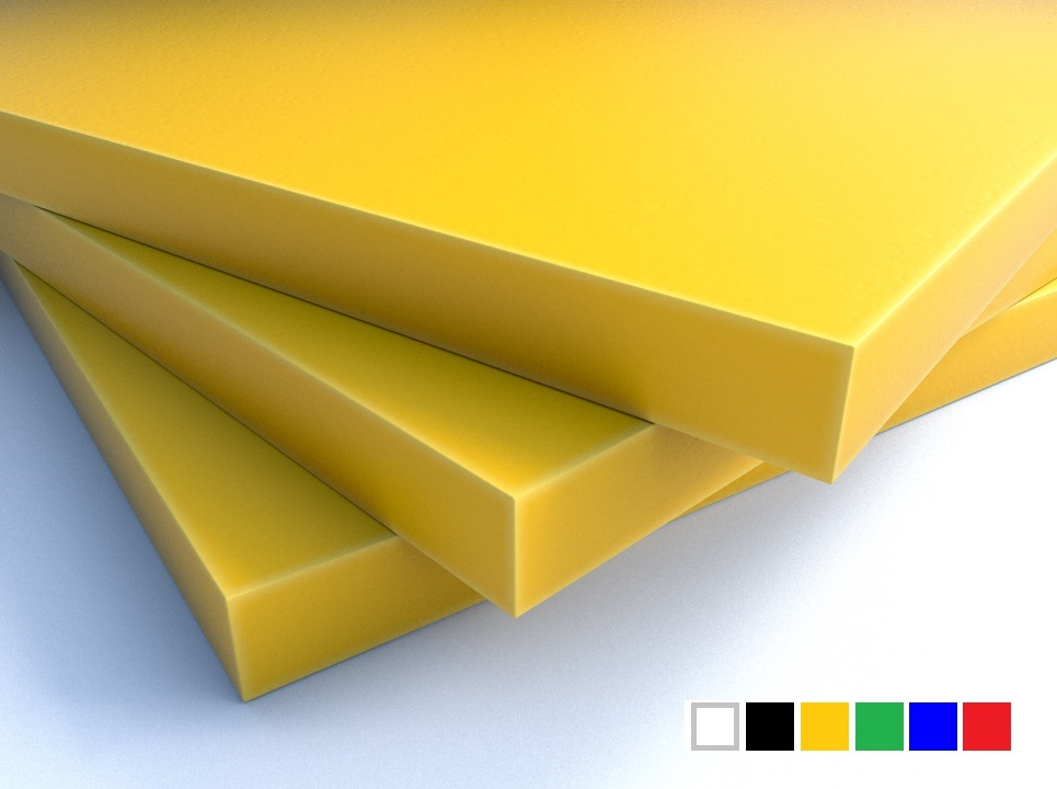 LuxTek Halbzeug gelb mit Farbpalette