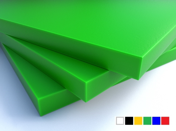 LuxTek Halbzeug grün mit Farbpalette