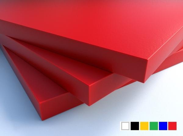 LuxTek Halbzeug rot mit Farbpalette